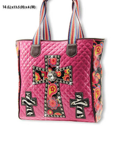 Hot Pink Cross Handbag