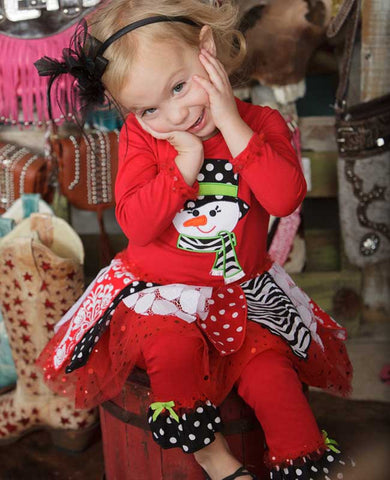 Tutu Snowman Legging Set