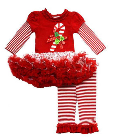 Candy Cane TuTu Legging Set