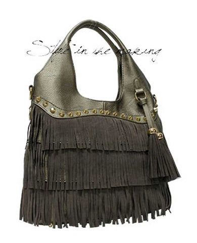 Fringe with Tassles Designer Inspired Handbag