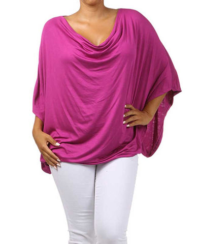 Fuchsia Three-Quarter Sleeve Top