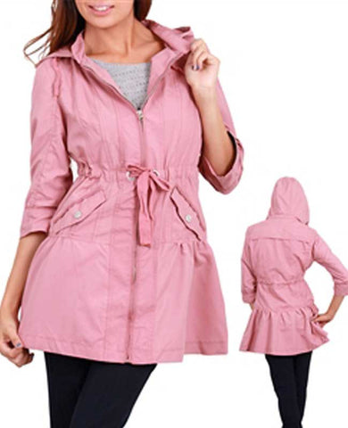 Pink Anorak Hooded Jacket