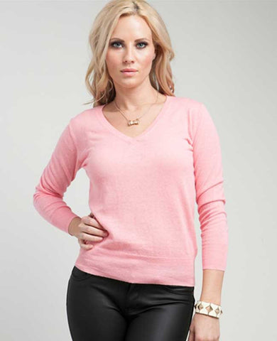 Light Pink Pullover Lightweight Sweater