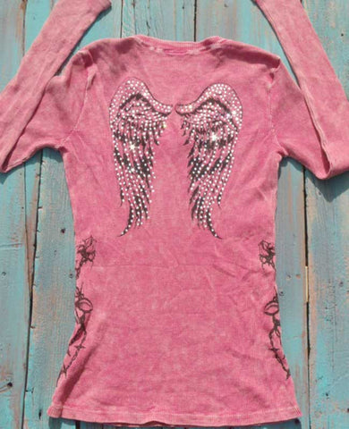 Pink Winged, Vine Rib Thermal
