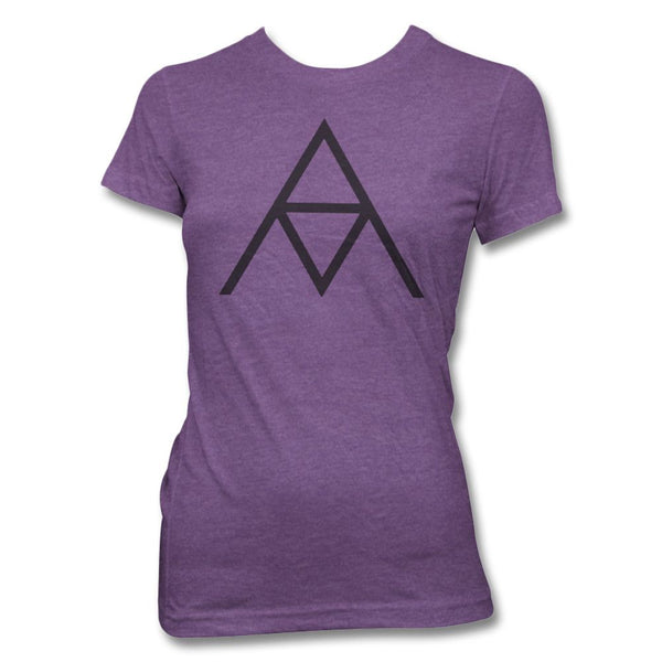 AM Logo T-shirt - Women's (Heather Purple)