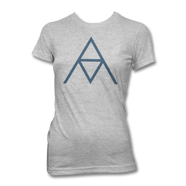 AM Logo T-shirt - Women's (Heather Silver)