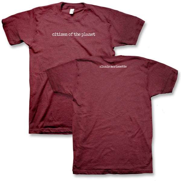 Citizen of the Planet T-Shirt (Burgundy)