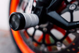 Front Freestyle, Crash Pegs, KTM DUKE, rc, silver