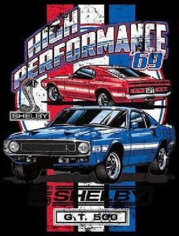 Carroll Shelby 1969 Ford Mustang GT500 Cobra Adult Unisex T Shirt 17932Di
