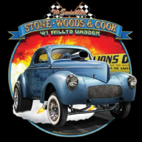 1941 Willys Gasser The Swindler Stone Woods Cook Mens Short or Long Sleeve Car T Shirt 21648HD4