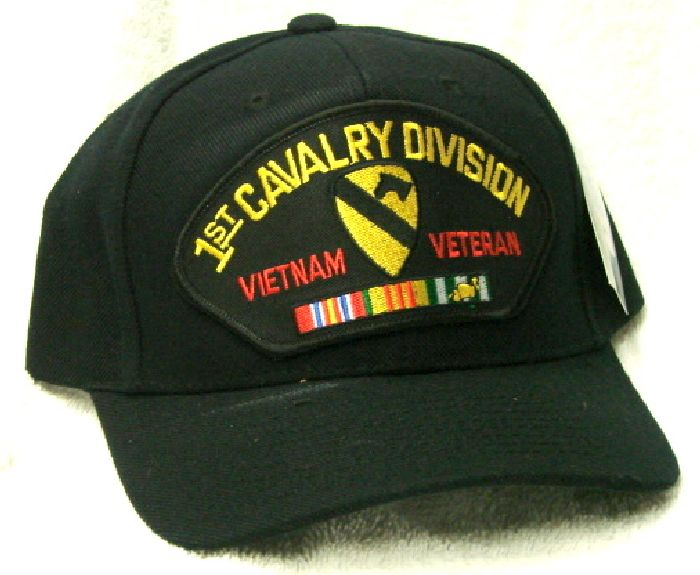 9b6bc57def0 Vintage 1st Cavalry Division Vietnam Veteran Low Profile Ball Cap Never Worn