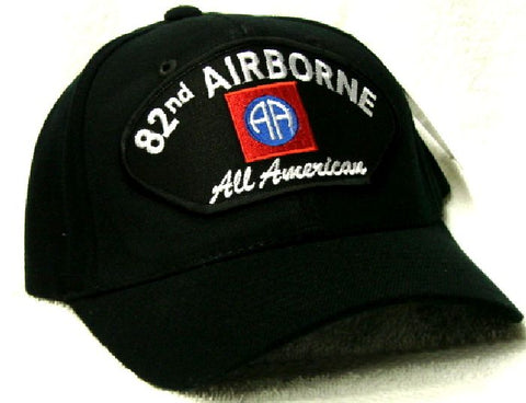 Vintage 82nd Airborne All American Low Profile Black Ball Cap Never Worn