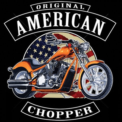 American Chopper with Flag Mens Short or Long Sleeve T Shirt 16179