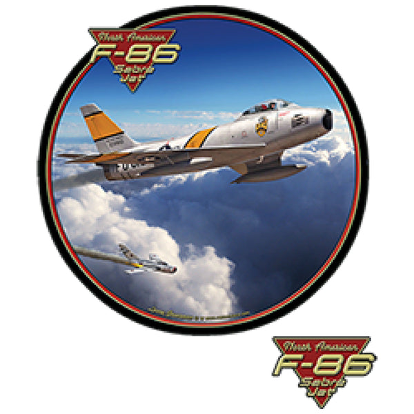 F 86 Sabre Jet Korean War Fighter Plane Mens Short or Long Sleeve T Shirt 22758HD3