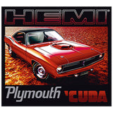Plymouth Hemi Cuda Car Adult Unisex Quality Short Sleeve T Shirt 22585HLP1