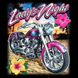 Ladys Night Womens Short or Long Sleeve Motorcycle T Shirt 17132D2