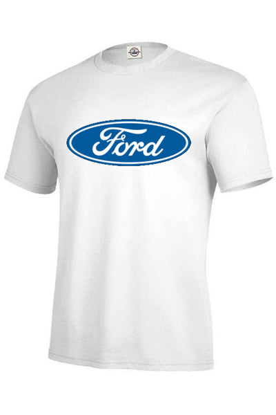 Ford Giant Logo Mens Short or Long Sleeve Car T Shirt Logo is 14 X 6 Inches 12614E2