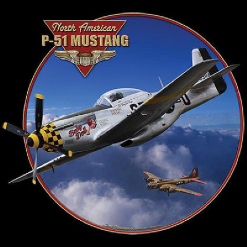 North American P 51 Mustang Airplane Mens Short or Long Sleeve T Shirt 21707HD4