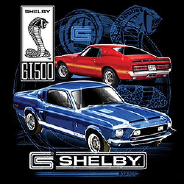 Licensed 1968 1969 Shelby Mustangs Adult Unisex Quality Short or Long Sleeve T Shirt 17927D2