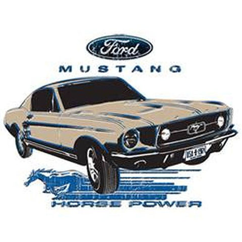 Ford Aged Design 1964 Mustang Car Adult Unisex T Shirt