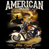 American Made Classics Free Spirit Adult Unisex Quality Motorcycle Long or Short Sleeve T Shirt 20329