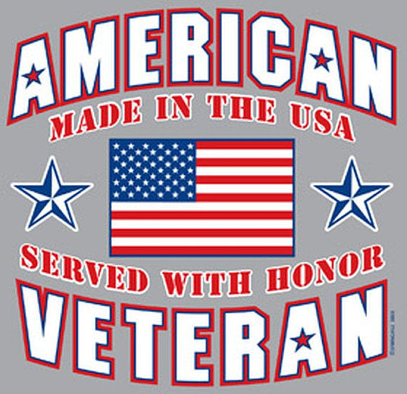 ON SALE American Veteran Made In The USA Served With Honor Adult Unisex T Shirt 3805