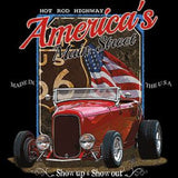 Hot Rod Highway Americas Main Street Adult Unisex Quality Car Long or Short Sleeve T Shirt 20317