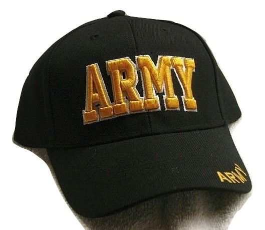 Vintage Army Low Profile Black Ball Cap Never Worn
