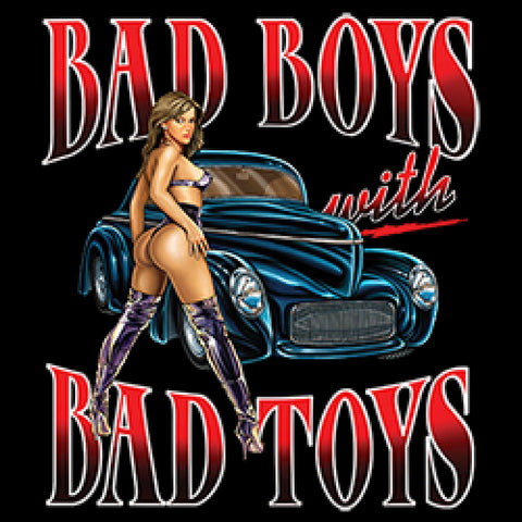 Willys Car T Shirt Bad Boys With Bad Toys Adult Unisex Quality Short or Long Sleeve T Shirt 22651HD1
