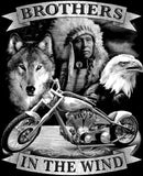 Native American Indian Brothers In The Wind Jumbo Graphic Mens Short or Long Sleeve T Shirt 3279