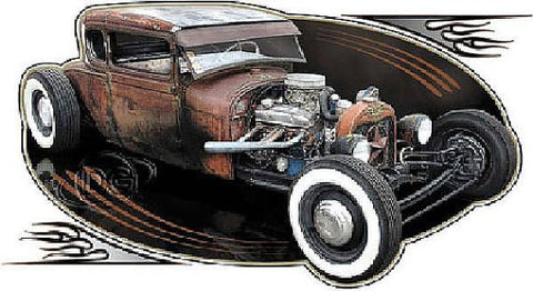 Classic Rat Rod Car Shirt Mens T Shirt Brent Gill Design POS309
