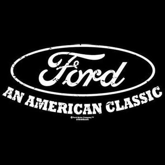 American Classic Ford Oval Mens Short or Long Sleeve Car T Shirt 17500E2