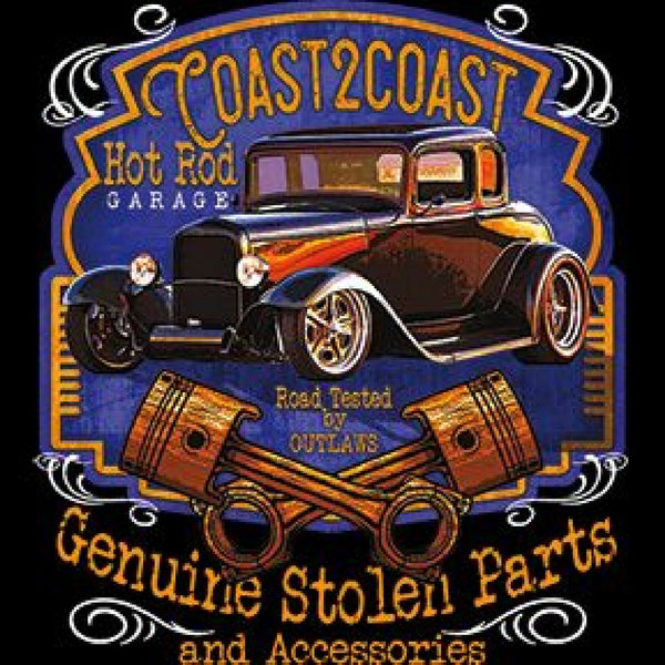 Coast 2 Coast Hot Rod Genuine Stolen Parts Adult Unisex Quality Car Long or Short Sleeve T Shirt 20322