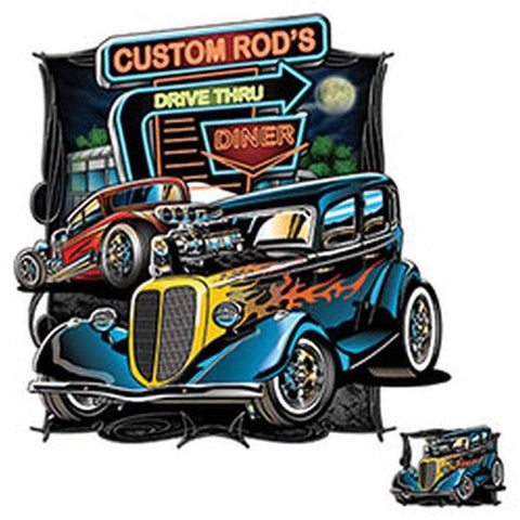 Custom Rods Drive Thru Diner Mens Short or Long Sleeve T Shirt 20964HD1