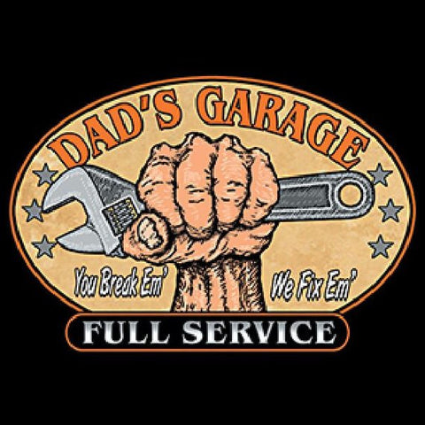 Dads Garage Full Service Mens Short or Long Sleeve Car T Shirt 14039