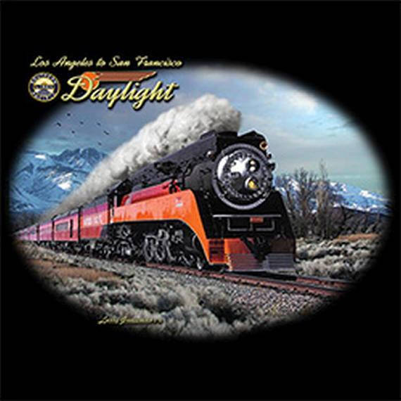 Daylight in Winter Train Los Angeles to San Francisco Mens Short or Long Sleeve T Shirt 21344D3