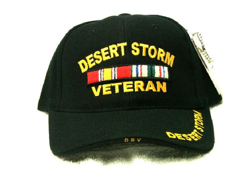 Vintage Desert Storm Veteran Low Profile Black Ball Cap Never Worn