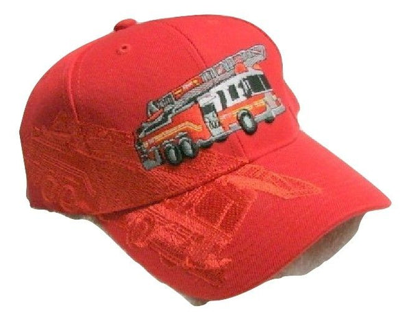 Vintage Fire Engine Low Profile Red Ball Cap Never Worn