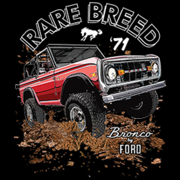Rare Breed 71 Bronco by Ford Adult Unisex Quality Short or Long Sleeve T Shirt 22497HD1
