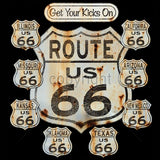 Get Your Kicks On Route 66 Mens Short or Long Sleeve T Shirt 15228