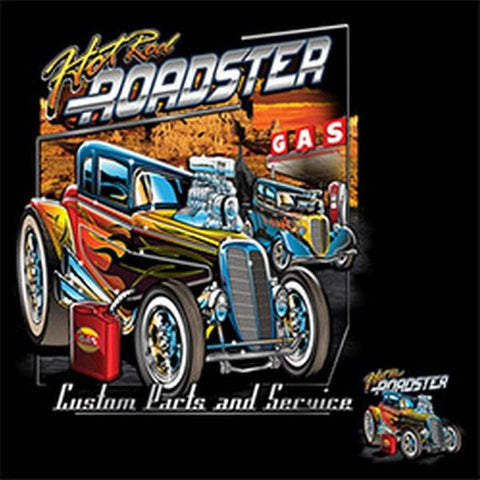 Hot Rod Roadster Mens Short or Long Sleeve Car T Shirt 20963D1