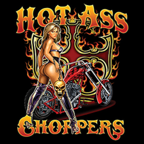 Hot Ass Choppers Adult Unisex Quality Motorcycle Short or Long Sleeve T Shirt 22672HD1