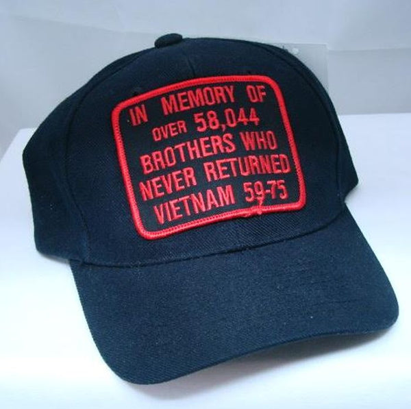 Vintage In Memory of Brothers Who Never Returned Vietnam Low Profile Ball Cap Never Worn
