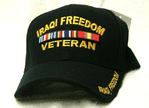 Vintage Operation Iraqi Freedom Veteran Low Profile Black Ball Cap Never Worn