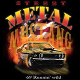 Ford Metal Mustang Runnin Wild Mens Short or Long Sleeve Car T Shirt 17023D2