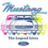Ford Mustang The Legend Lives Adult Unisex Quality Short Sleeve T Shirt 22504HLP2