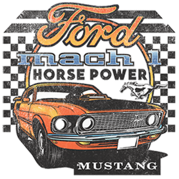 Ford Mustang Car Mach Horsepower Adult Unisex Quality Short or Long Sleeve T Shirt 22550D1