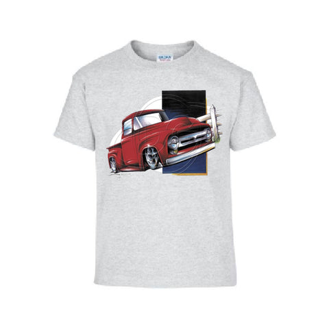 Vintage 1950s Red Pickup Adult Unisex T Shirt Brent Gill Design POS465