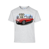 Vintage 1960s Red Vette Adult Unisex White T Shirt  POS451