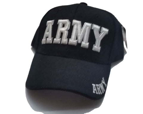 Vintage Army Low Profile Black Ball Cap White Letters Never Worn